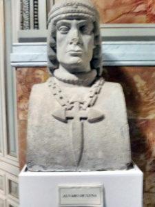 Busto de Álvaro de Luna.