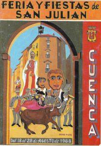 Cartel de Óscar Pinar para la feria de San Julián de 1988. / Archivo José Vicente Ávila