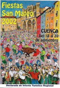 Cartel de Óscar Pinar para las fiestas de San Mateo de 2002. / Archivo José Vicente Ávila