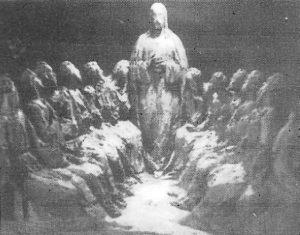 """Boceto de la Santa Cena. / Foto Luis Pascual. """"Fausto 1985"""""""