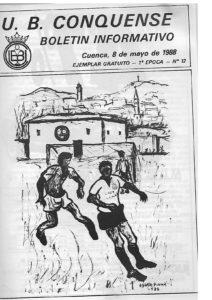Ilustración de Óscar Pinar para el boletín de la UB Conquense en 1988. / Archivo José Vicente Ávila