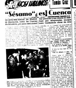Crónica de Jesús Sotos en Ofensiva, 1955. / Archivo José Vicente Ávila