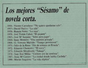 El Día Cultural, 1994.