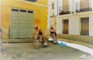 En alguna ocasión la calle del Peso ha sido paso para el ciclismo.