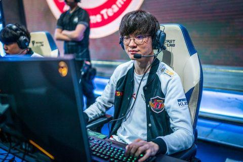 Faker na světovém šampionátu v roce 2019 •Foto: Riot Games