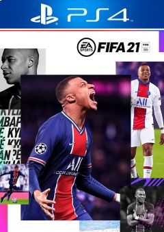 FIFA 21 cover + PS4