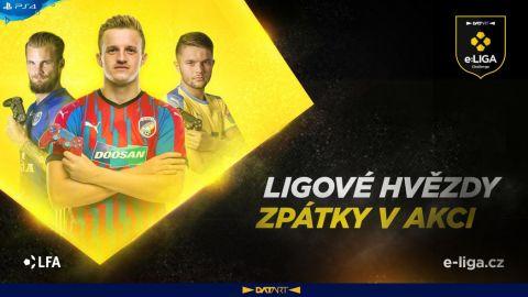LFA uspořádá turnaj, ve kterém se utkají ligoví fotbalisté, kteří následně určí, kam poputuje výhra 100 tisíc na boj proti COVID-19 •Foto: e-liga.cz