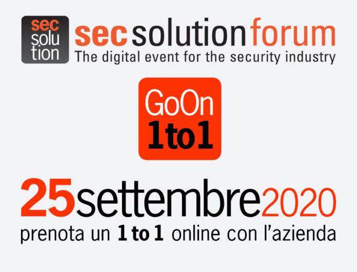 secsolutionforum Go On 25 settembre