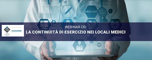Webinar CEI_La continuità di esercizio nei locali medici