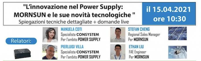 webinar Consystem Mornsun Power Supply