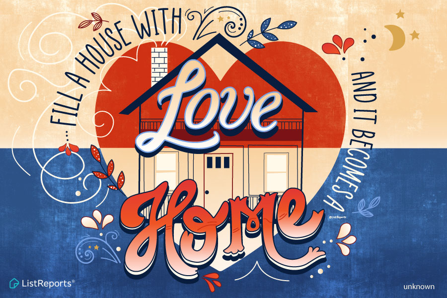Make your new house a home filled with love!