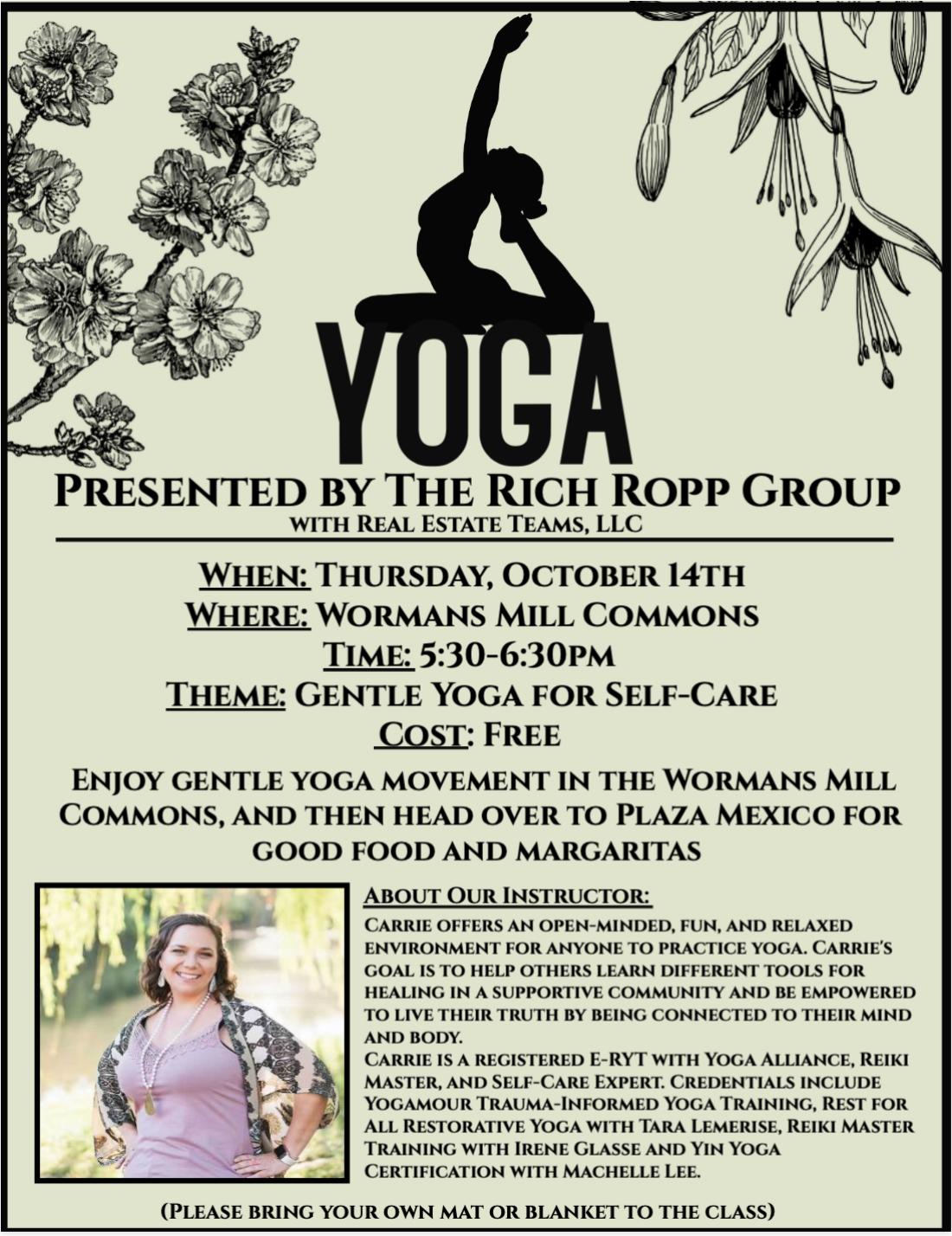 Yoga Reminder!