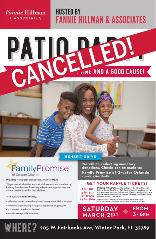 CANCELLED - Fannie Hillman + Associates Annual Patio Party