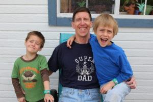 Allergy Superheroes boys with Dad