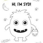 Syd character printable coloring sheet