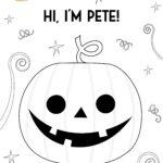 Pete character printable coloring sheet