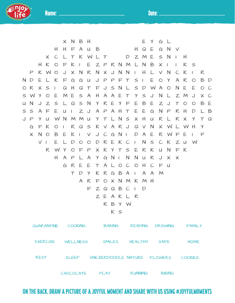 A preview of the printable Word Search document. Click or tap to download.