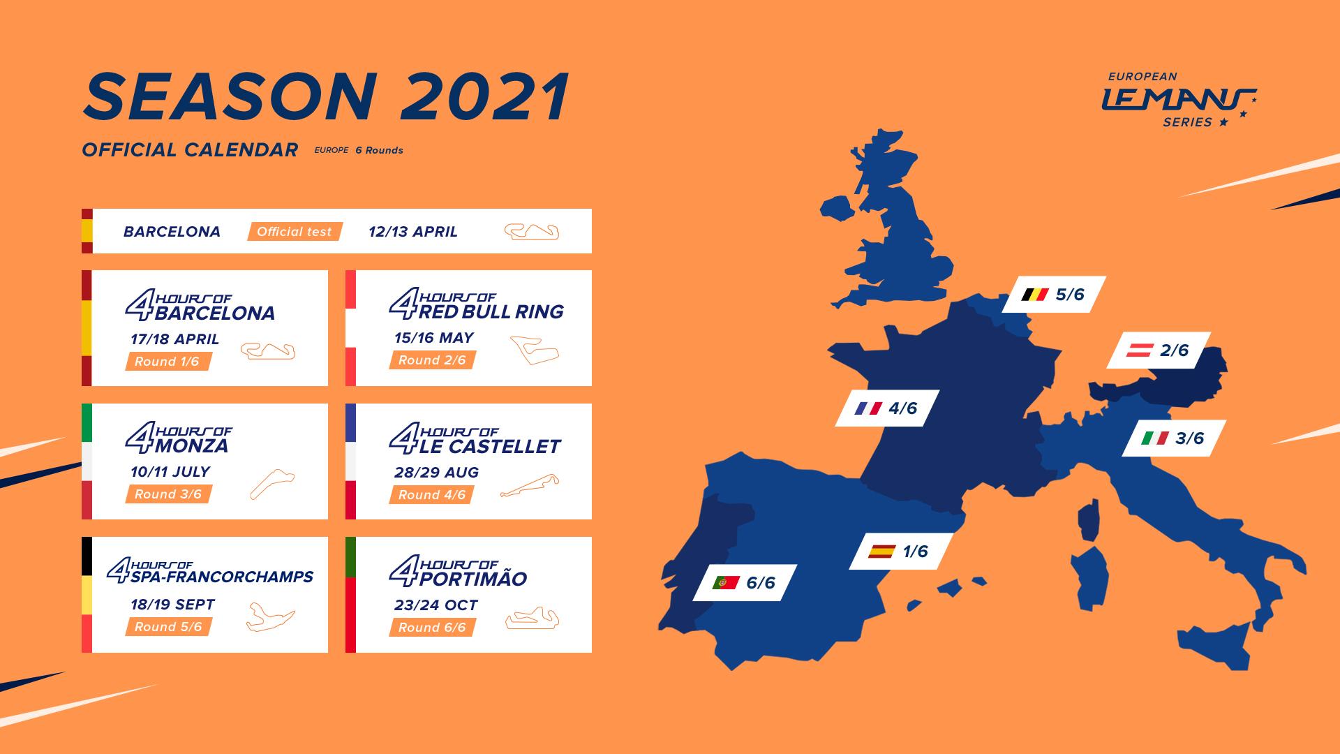 2021 European Le Mans Series calendar revealed   ELMS