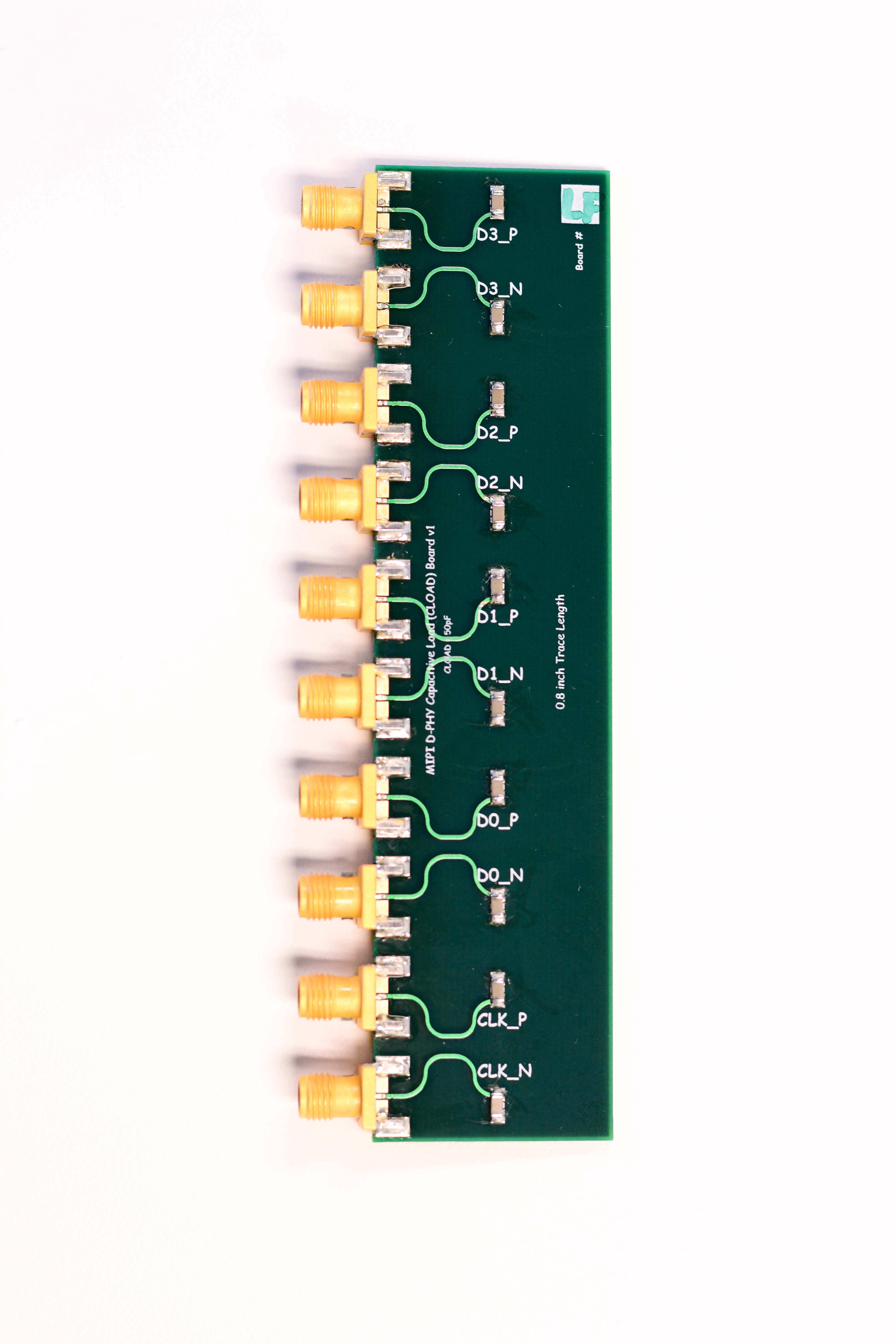 MIPI D-PHY Capacitive Load (CLOAD) Fixture