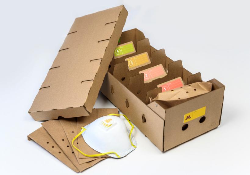 Mask storage box