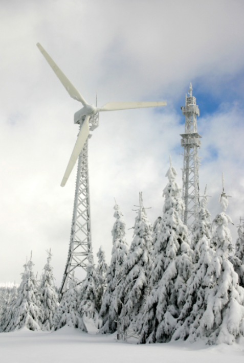 Control system to optimize cold climate wind turbine performance