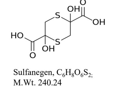 Use of sulfanegen and its analogs for prevention and treatment for neurodegenerative disorders