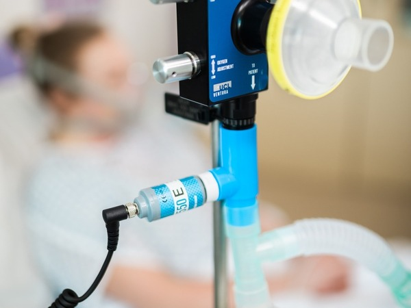 Breathing aid device for COVID-19 patients by UCL. By James Tye/UCL