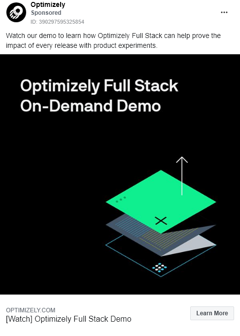 Optimizely – Demo – Facebook Ad
