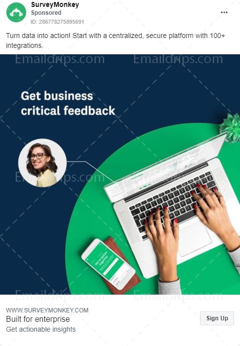 SurveyMonkey – Enterprise Plans – Facebook Ad