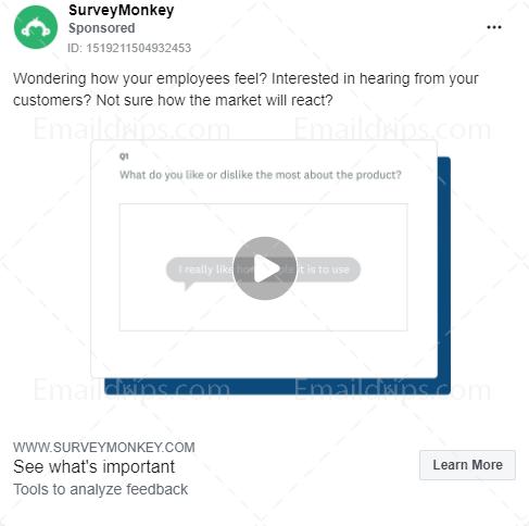 SurveyMonkey – Free trial – Facebook Ad