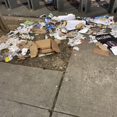 Trash near 2162 3rd Avenue, New York