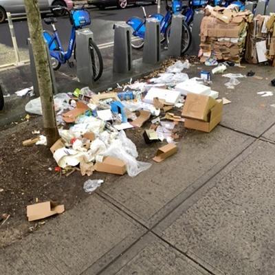 Trash near 2171 3rd Avenue, New York