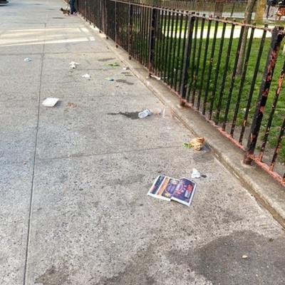 Trash near 1390 5th Avenue, New York