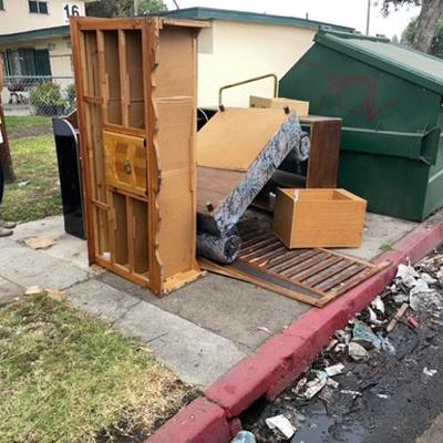Trash near 5134 Long Beach East Avenue, Los Angeles