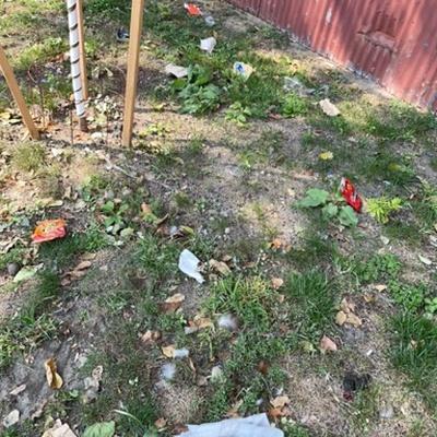 Trash near 30-55 Vernon Boulevard, New York