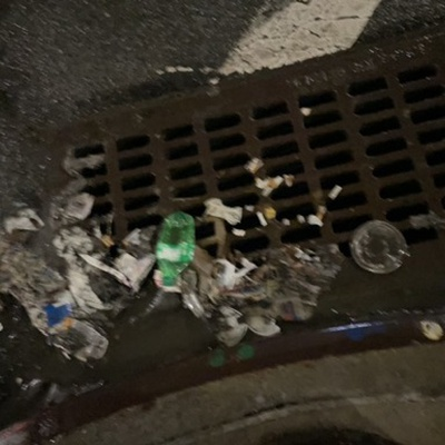 Trash near 27-40 21st Street, New York