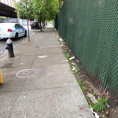 Trash near 111 East 118th Street, New York