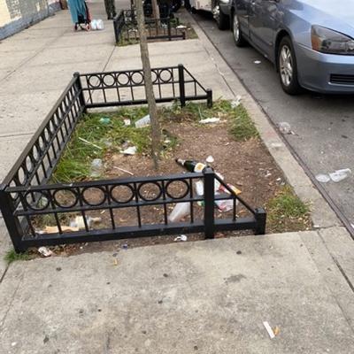 Trash near 404 East 117th Street, New York
