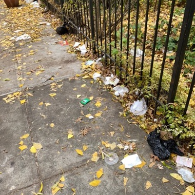 Trash near 2173 3rd Avenue, New York