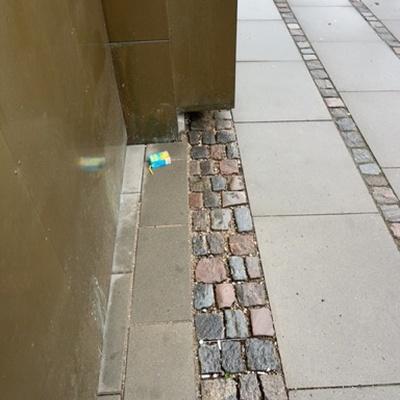 Trash near 58 Åboulevard, Copenhagen