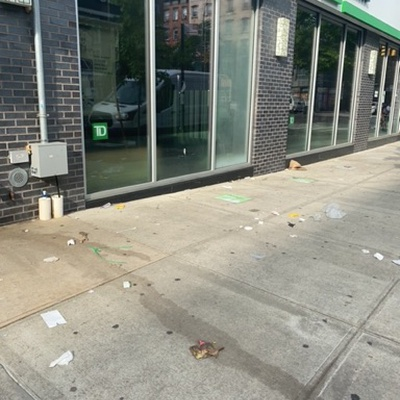 Trash near 187 East 117th Street, New York