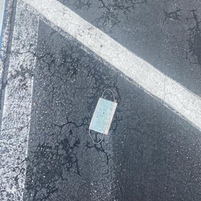 Trash near Winn Dixie, Lincoln Avenue, Ormond Beach, Volusia County, Florida, 32174, United States