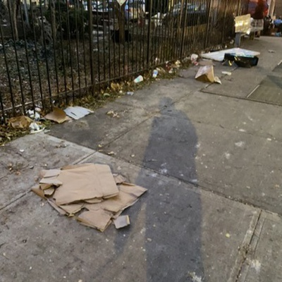 Trash near 147 East 118th Street, New York