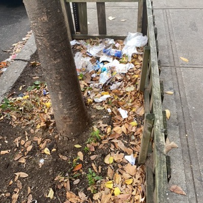 Trash near 173 East 121st Street, New York