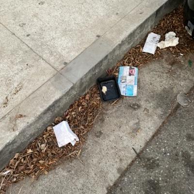 Trash near 2414 Pacific Avenue, Los Angeles