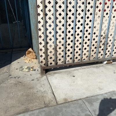 Trash near 601 East Broadway, Long Beach