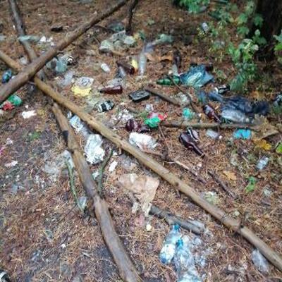 Trash near 3 Antoniego Pankracego Łaguny, Warsaw