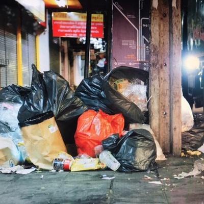 Trash near Bang Wa Subdistrict, Phasi Charoen District, Bangkok, 10160, Thailand