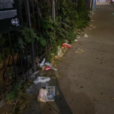 Trash near 1890 Lexington Avenue, New York