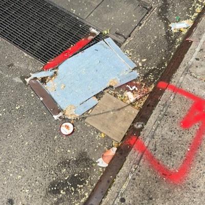 Trash near 26 East 31st Street, New York